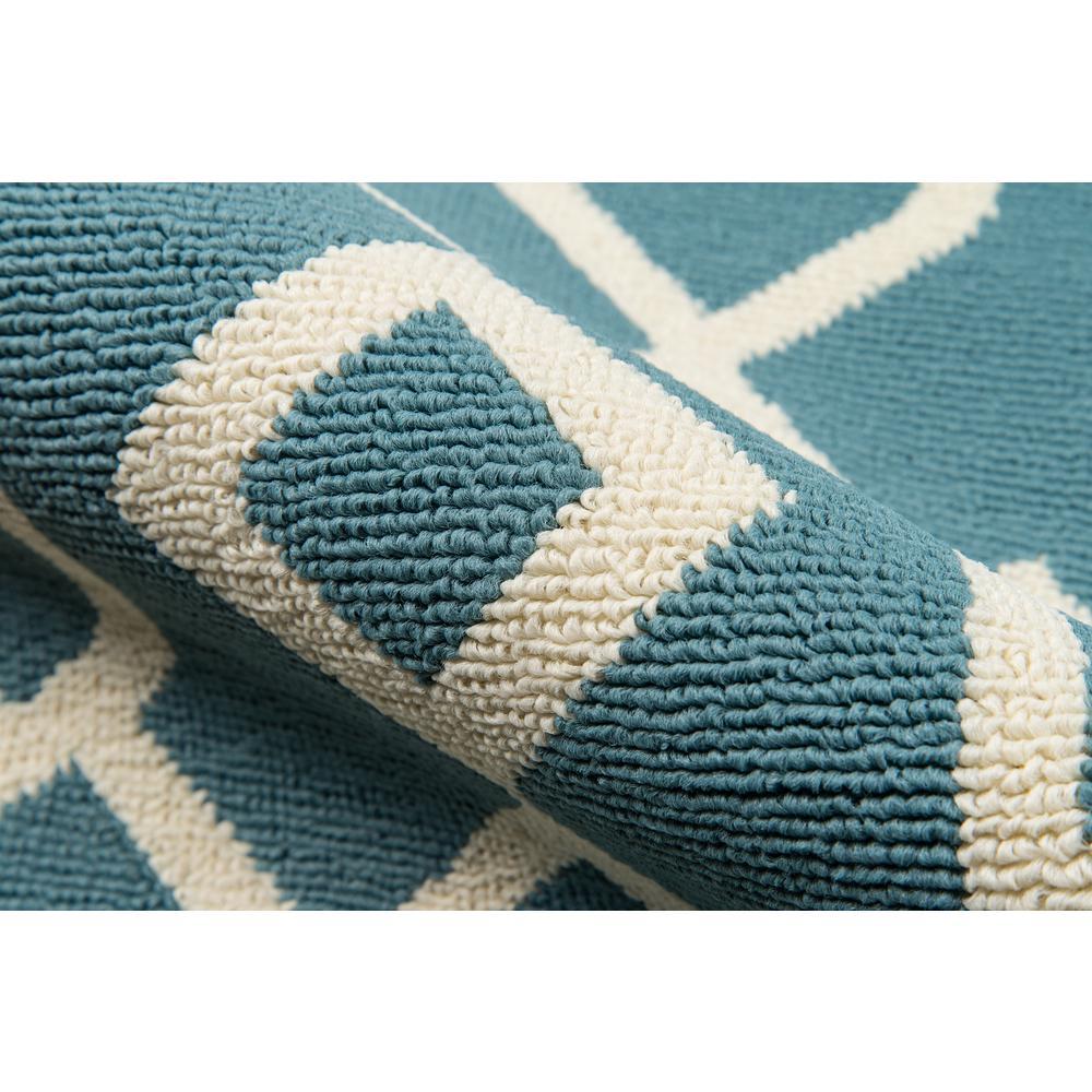 "Baja Area Rug, Blue, 1'8"" X 3'7"". Picture 4"