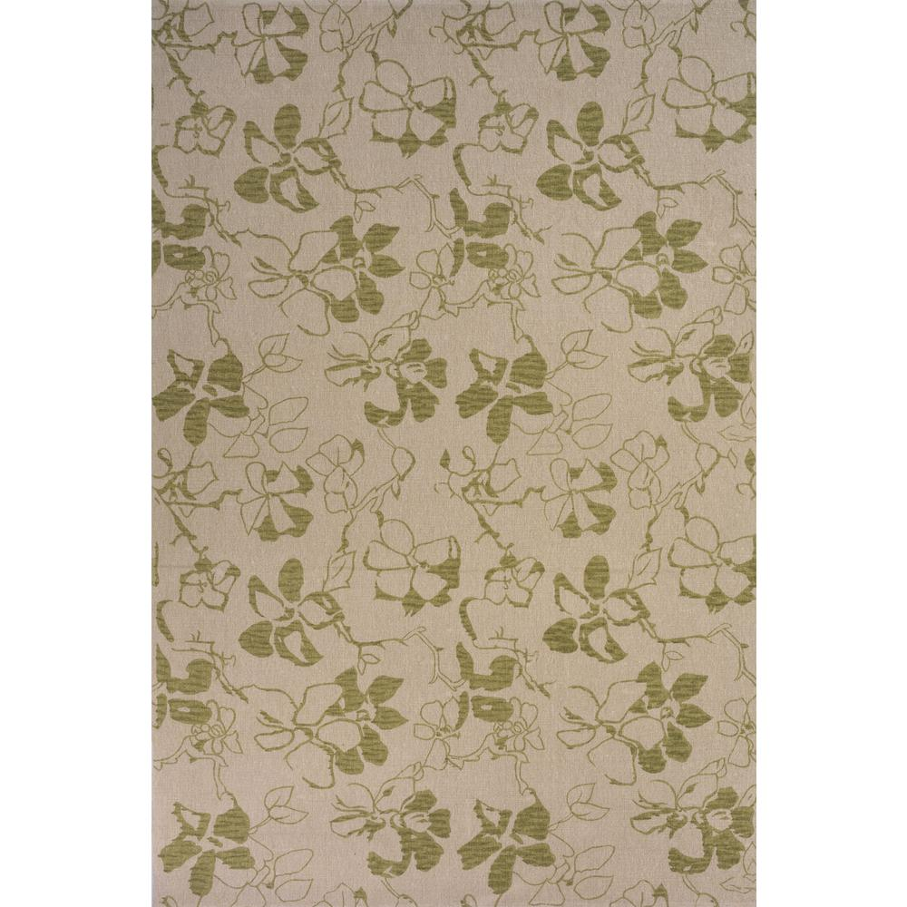 """Bali Area Rug, Green, 2'6"""" X 12' Runner. Picture 1"""