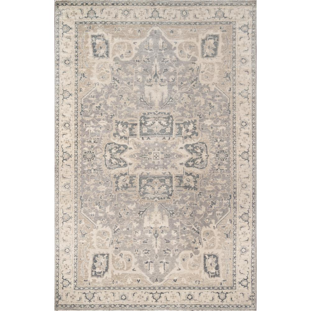 Banaras Area Rug, Grey, 2' X 3'. Picture 1