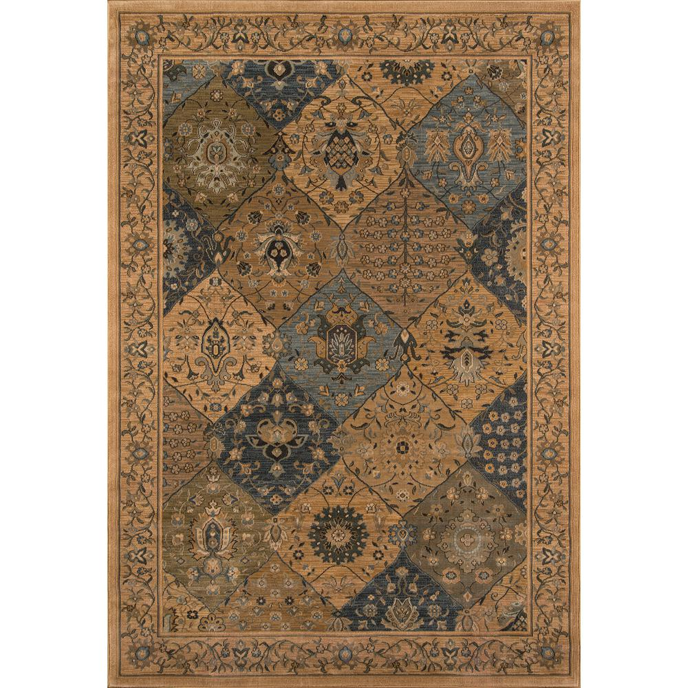 """Belmont Area Rug, Blue, 5'3"""" X 7'6"""". Picture 1"""