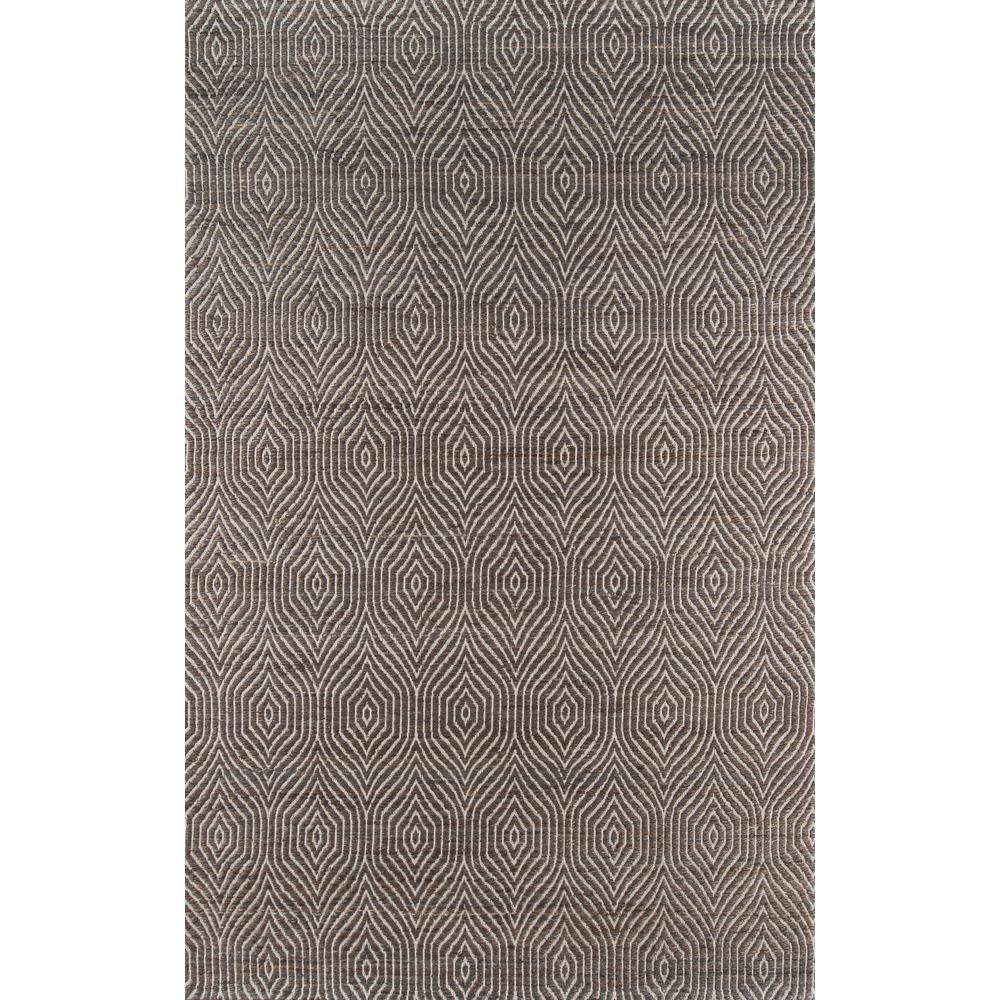Bengal Area Rug, Charcoal, 2' X 3'. Picture 1