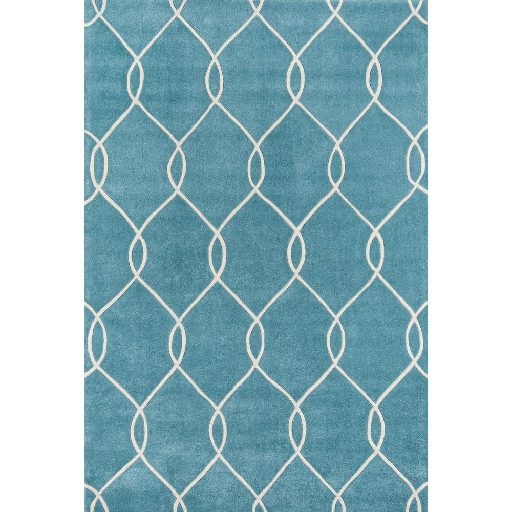 Bliss Area Rug, Teal, 2' X 3'. Picture 1