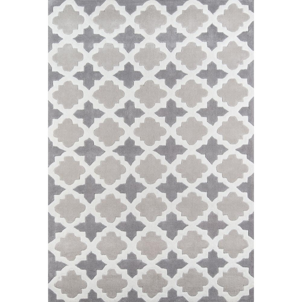 Bliss Area Rug, Grey, 2' X 3'. Picture 1