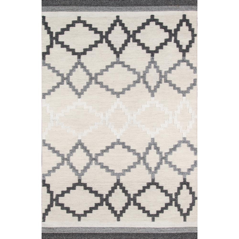Boho Area Rug, Grey, 2' X 3'. Picture 1