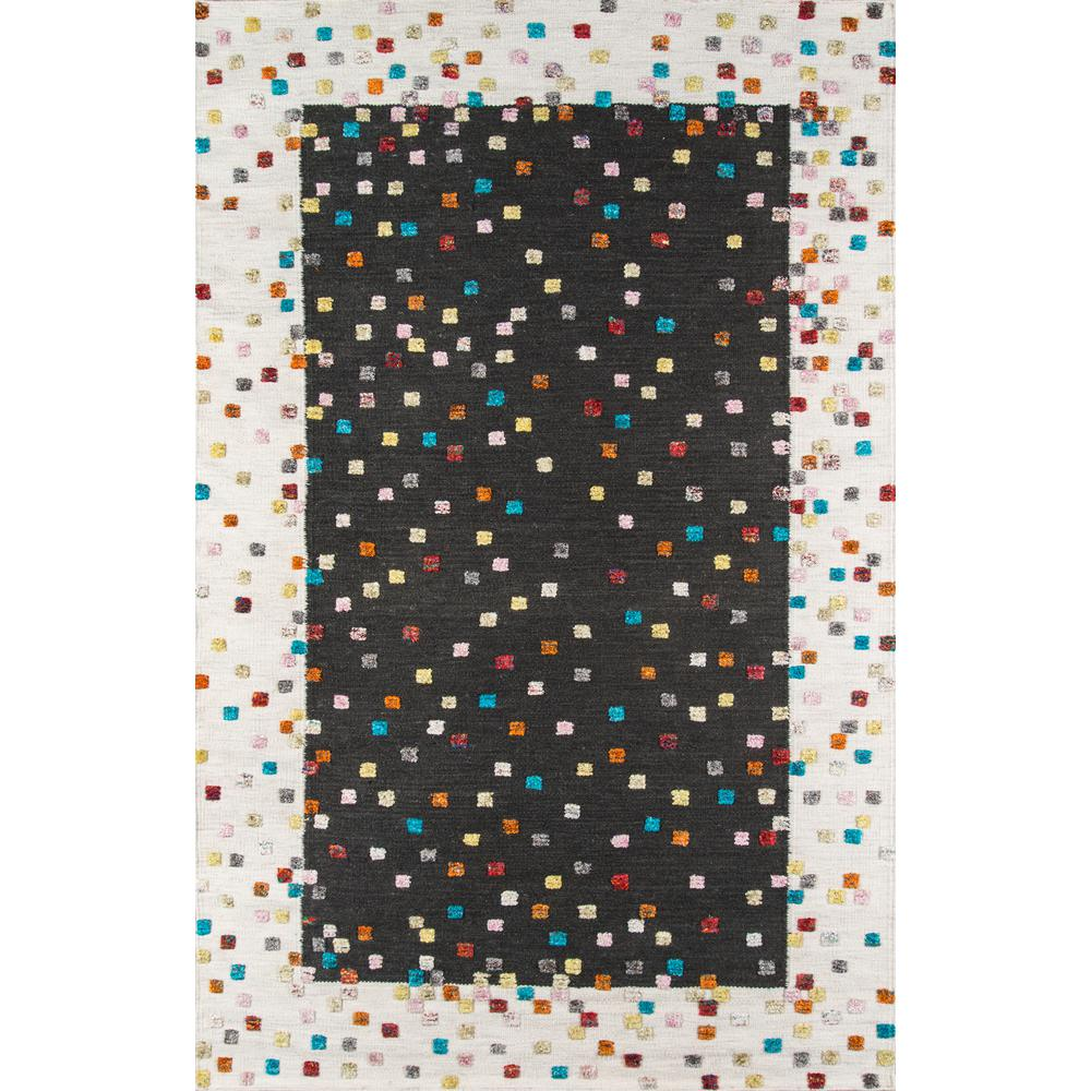 Boho Area Rug, Charcoal, 2' X 3'. Picture 1