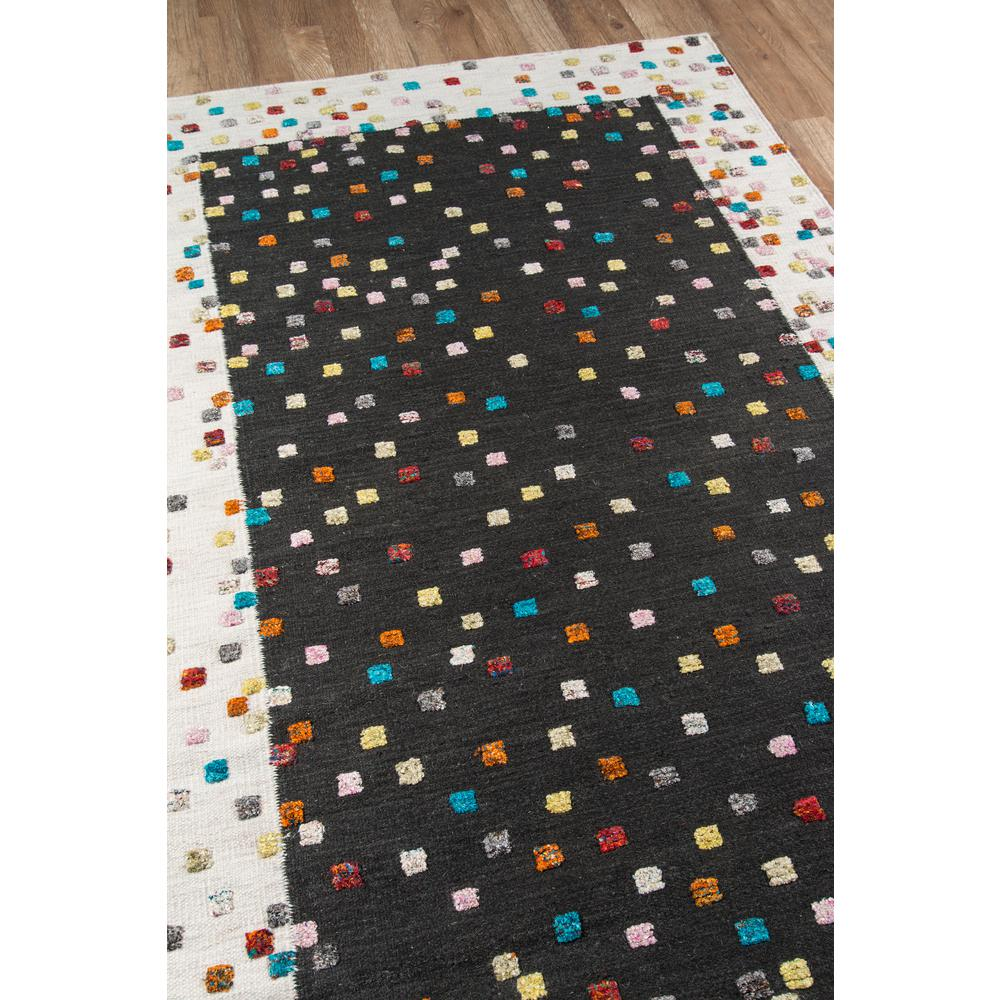 Boho Area Rug, Charcoal, 2' X 3'. Picture 2