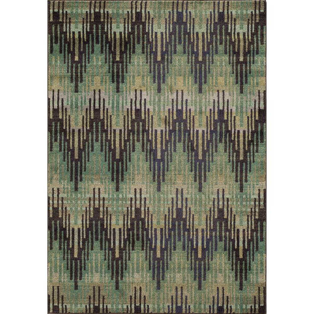 Casa Area Rug, Green, 2' X 3'. Picture 1