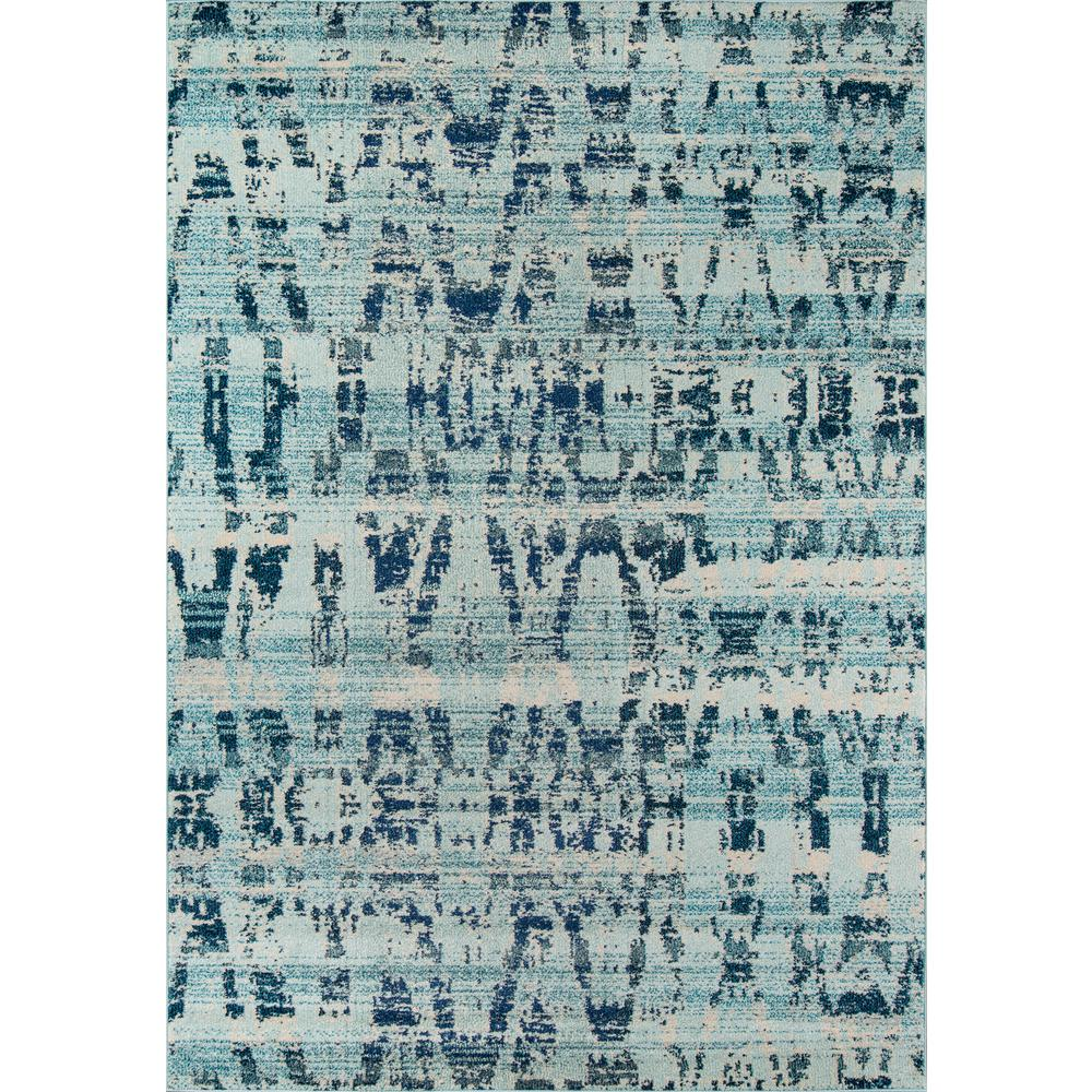 Casa Area Rug, Ocean Blue, 2' X 3'. Picture 1