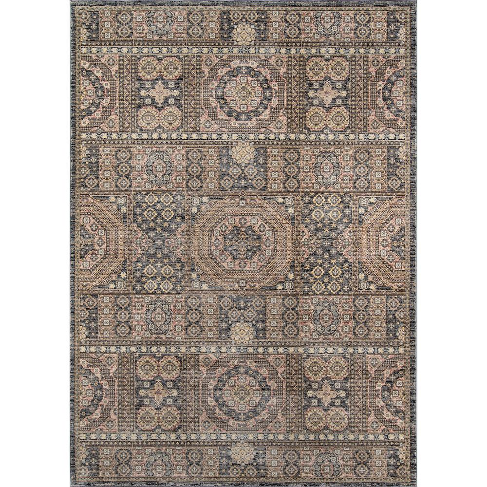 Caspian Area Rug, Grey, 5' X 8'. The main picture.