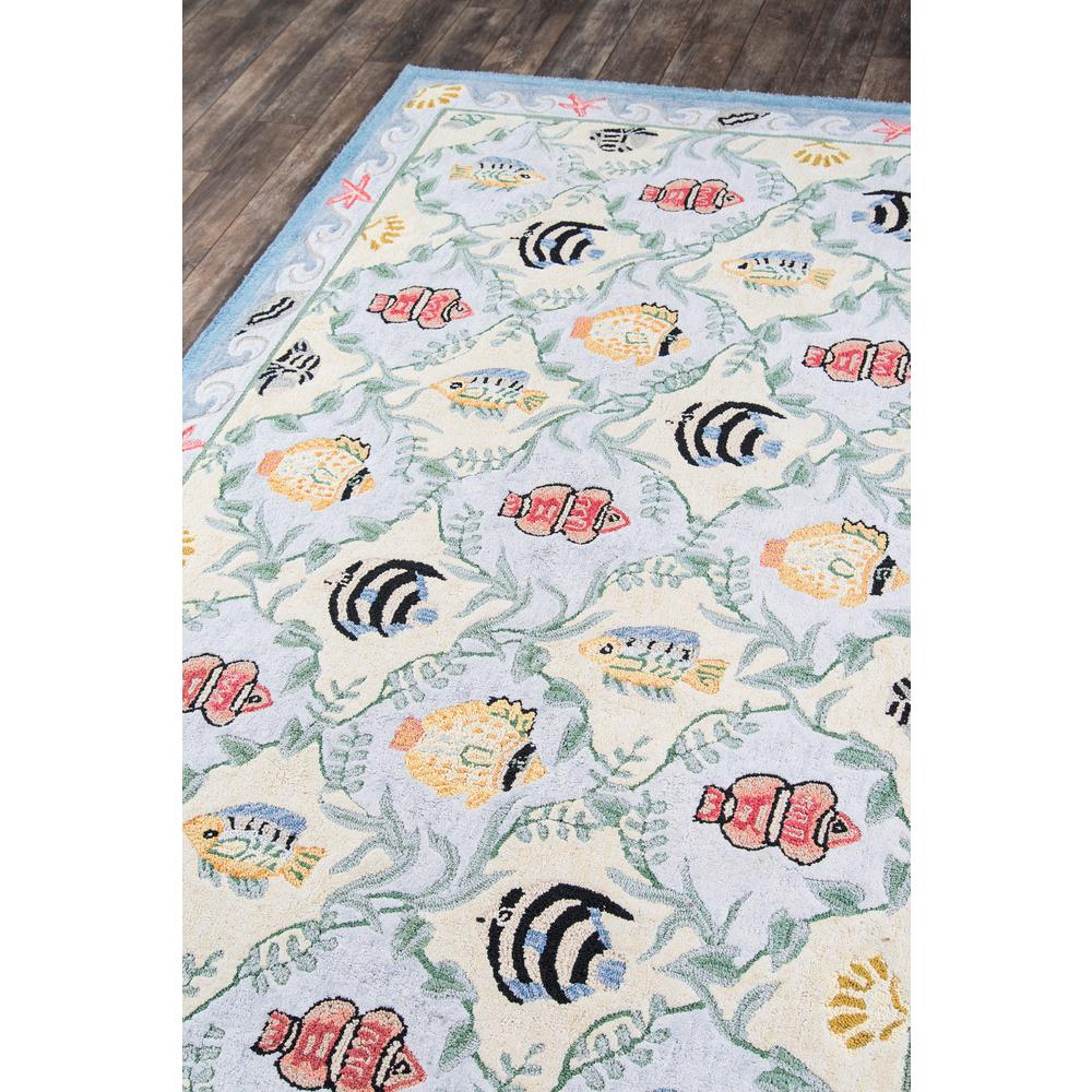 """Coastal Area Rug, Blue, 2'6"""" X 8' Runner. Picture 2"""