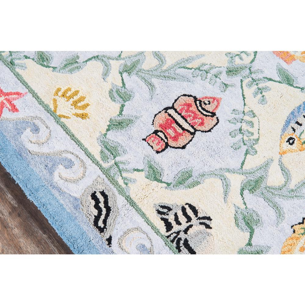 """Coastal Area Rug, Blue, 2'6"""" X 8' Runner. Picture 3"""