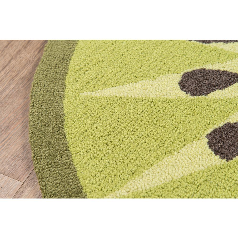 Cucina Area Rug, Green, 3' X 3' Round. Picture 2