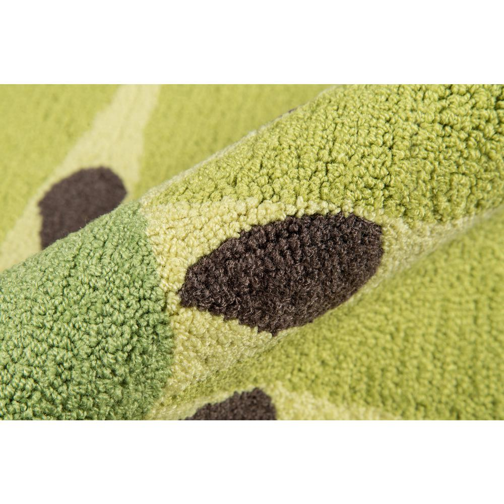 Cucina Area Rug, Green, 3' X 3' Round. Picture 3