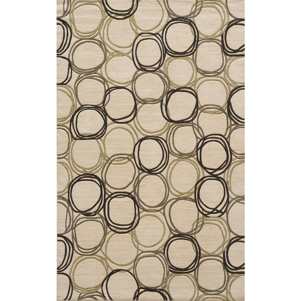 Elements Area Rug, Ivory, 2' X 3'. Picture 1