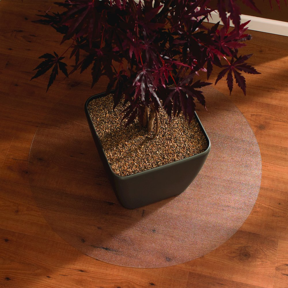 "Cleartex Circular General Purpose Floor Mat, For Hard Floor, Size - 24"" Diameter. Picture 2"