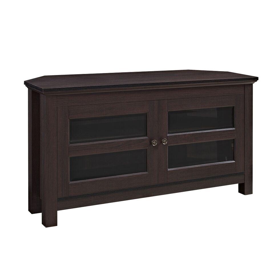 44 Quot Espresso Wood Corner Tv Stand