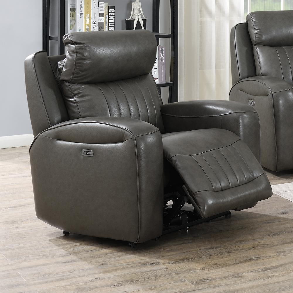 Avila Power Recliner Chair - Slate. Picture 2