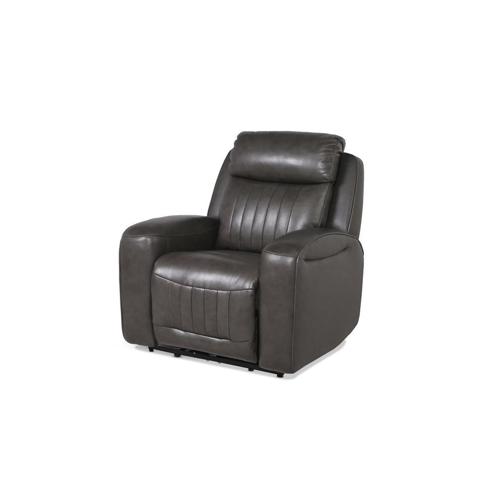 Avila Power Recliner Chair - Slate. Picture 1