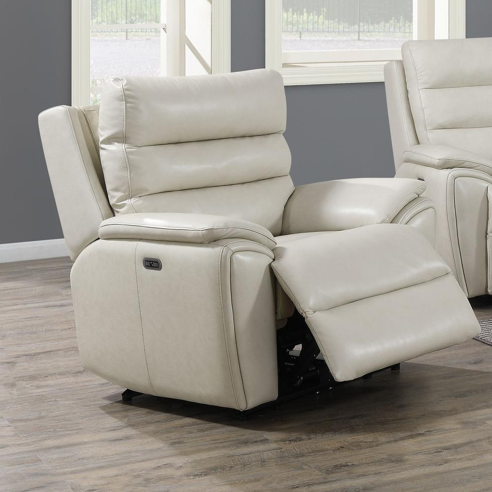 Duval Power Recliner  Chair - Ivory. Picture 1