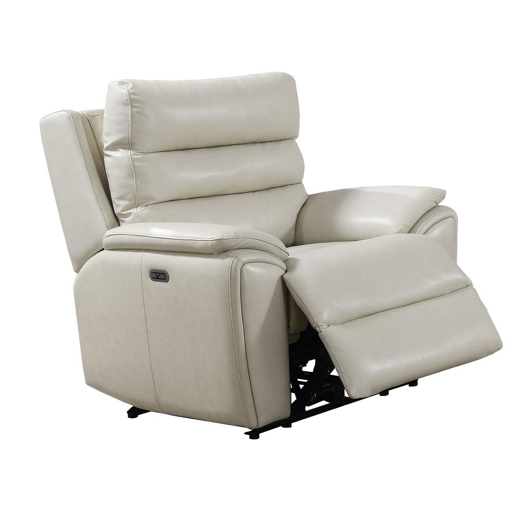 Duval Power Recliner  Chair - Ivory. Picture 4