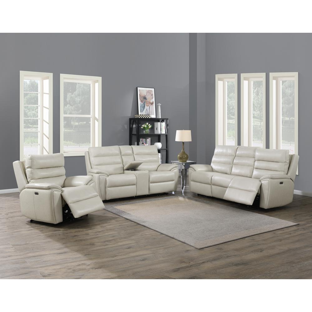 Duval Power Recliner  Chair - Ivory. Picture 8
