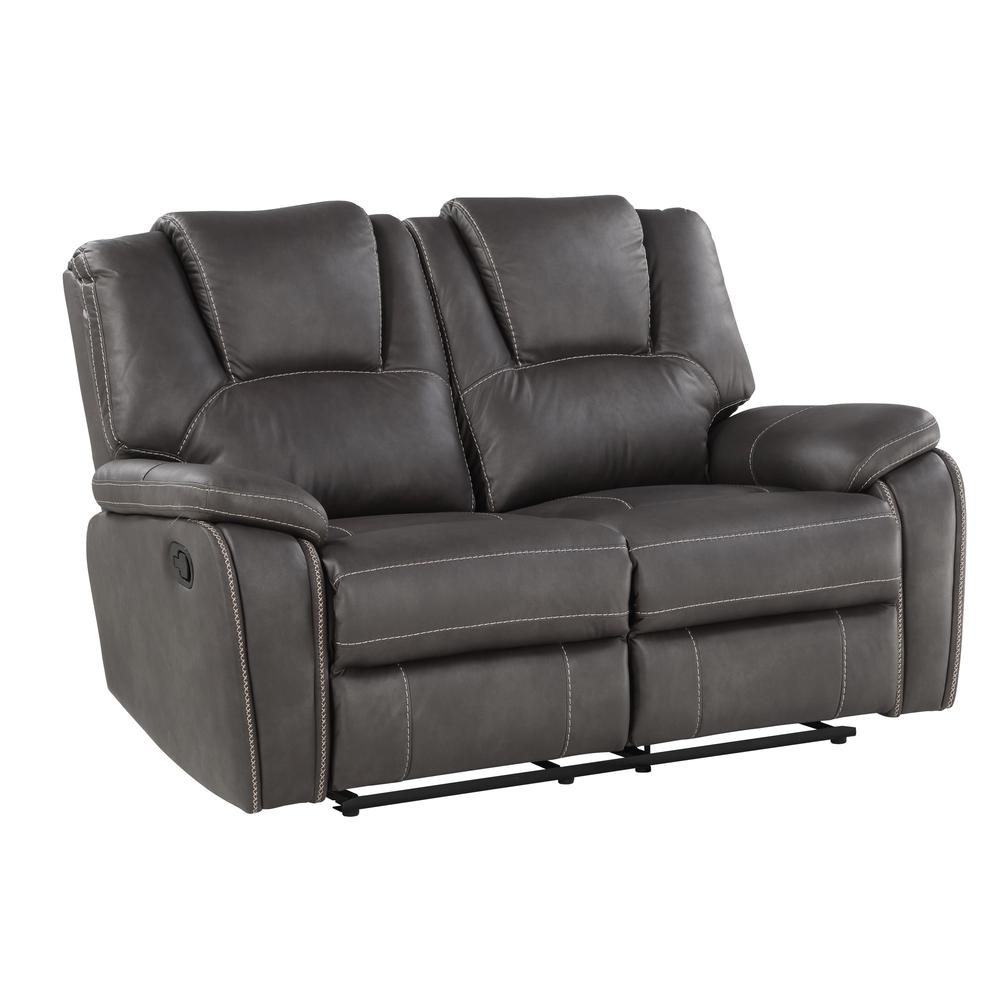 Katrine Manual Reclining Loveseat - Charcoal. Picture 2