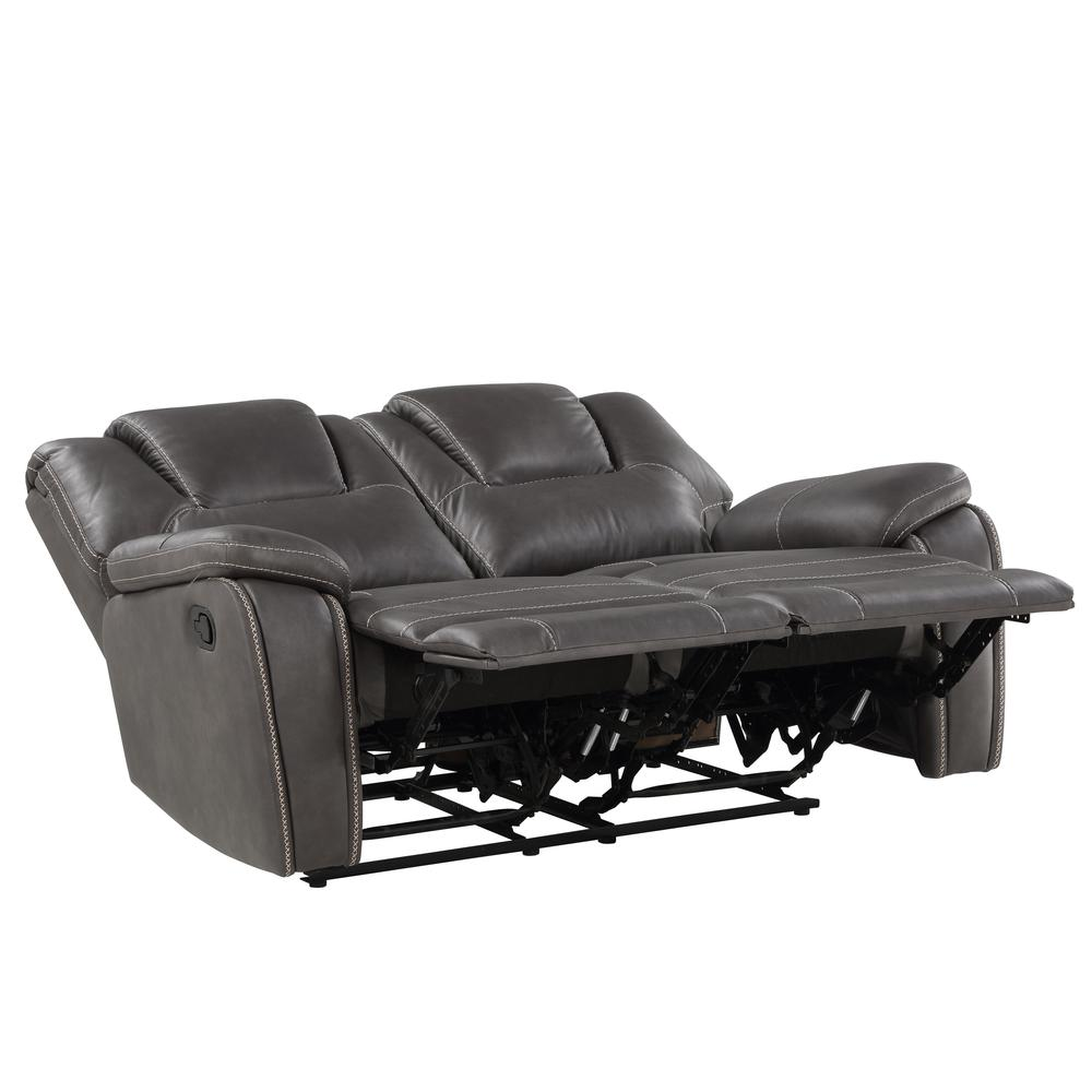 Katrine Manual Reclining Loveseat - Charcoal. Picture 3