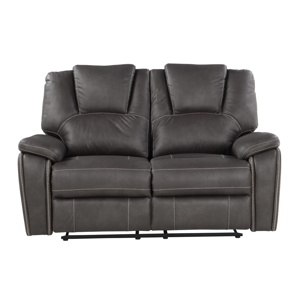 Katrine Manual Reclining Loveseat - Charcoal. Picture 4