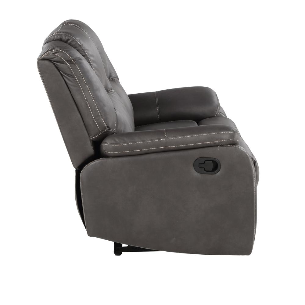 Katrine Manual Reclining Loveseat - Charcoal. Picture 5