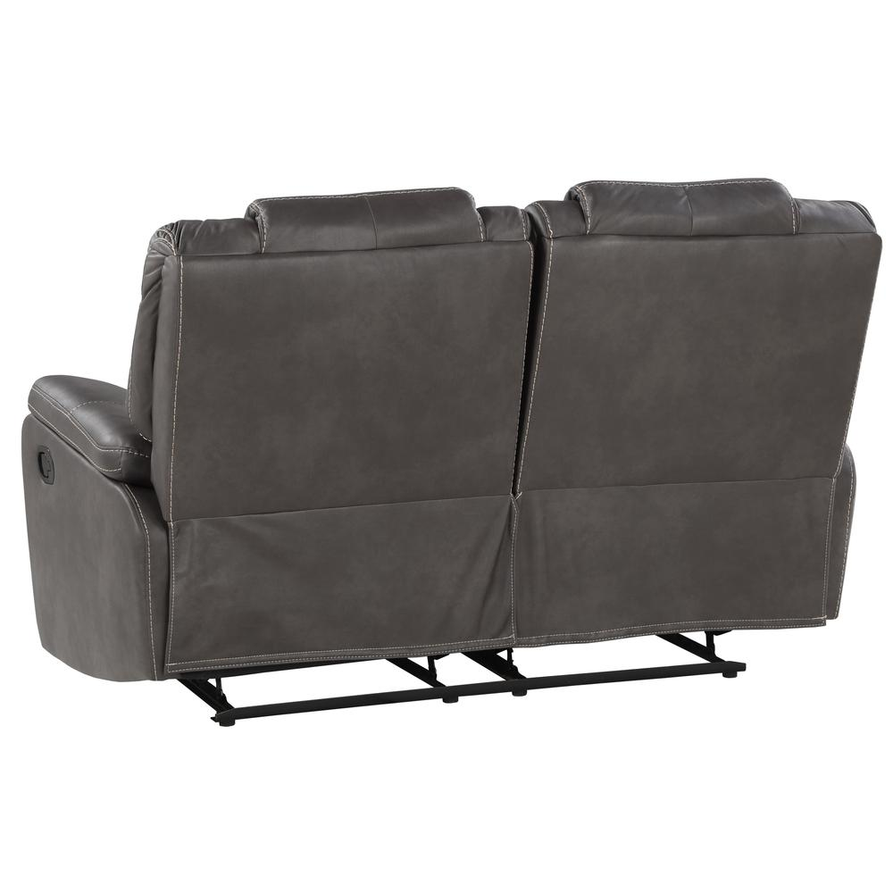 Katrine Manual Reclining Loveseat - Charcoal. Picture 6