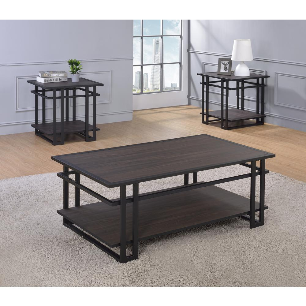 3-Piece Occasional Set, Dark Brown, Espresso finished Silvershield® tops. Picture 1