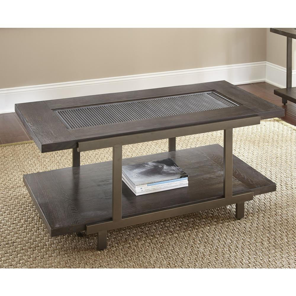 Cocktail Table with casters, Smoky Brown. Picture 1