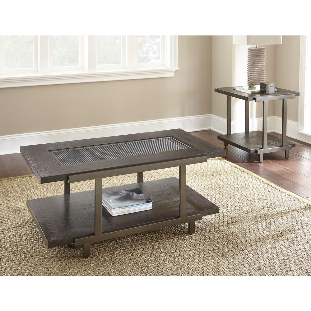 Cocktail Table with casters, Smoky Brown. Picture 3