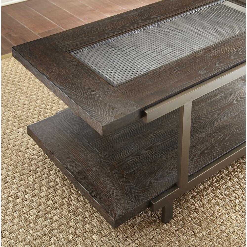 Cocktail Table with casters, Smoky Brown. Picture 4
