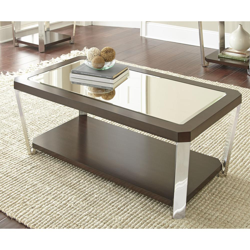 Cocktail Table with casters, Espresso. Picture 1