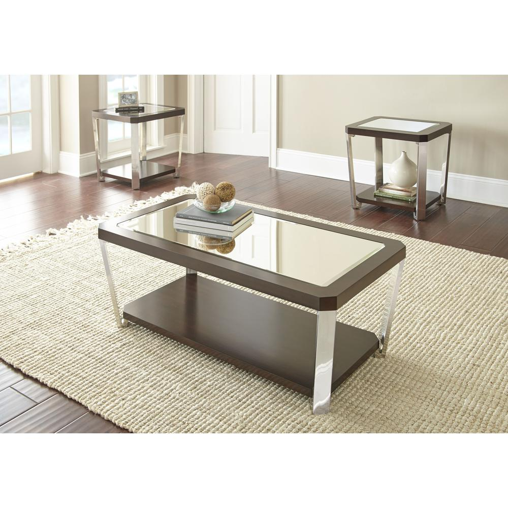Cocktail Table with casters, Espresso. Picture 2