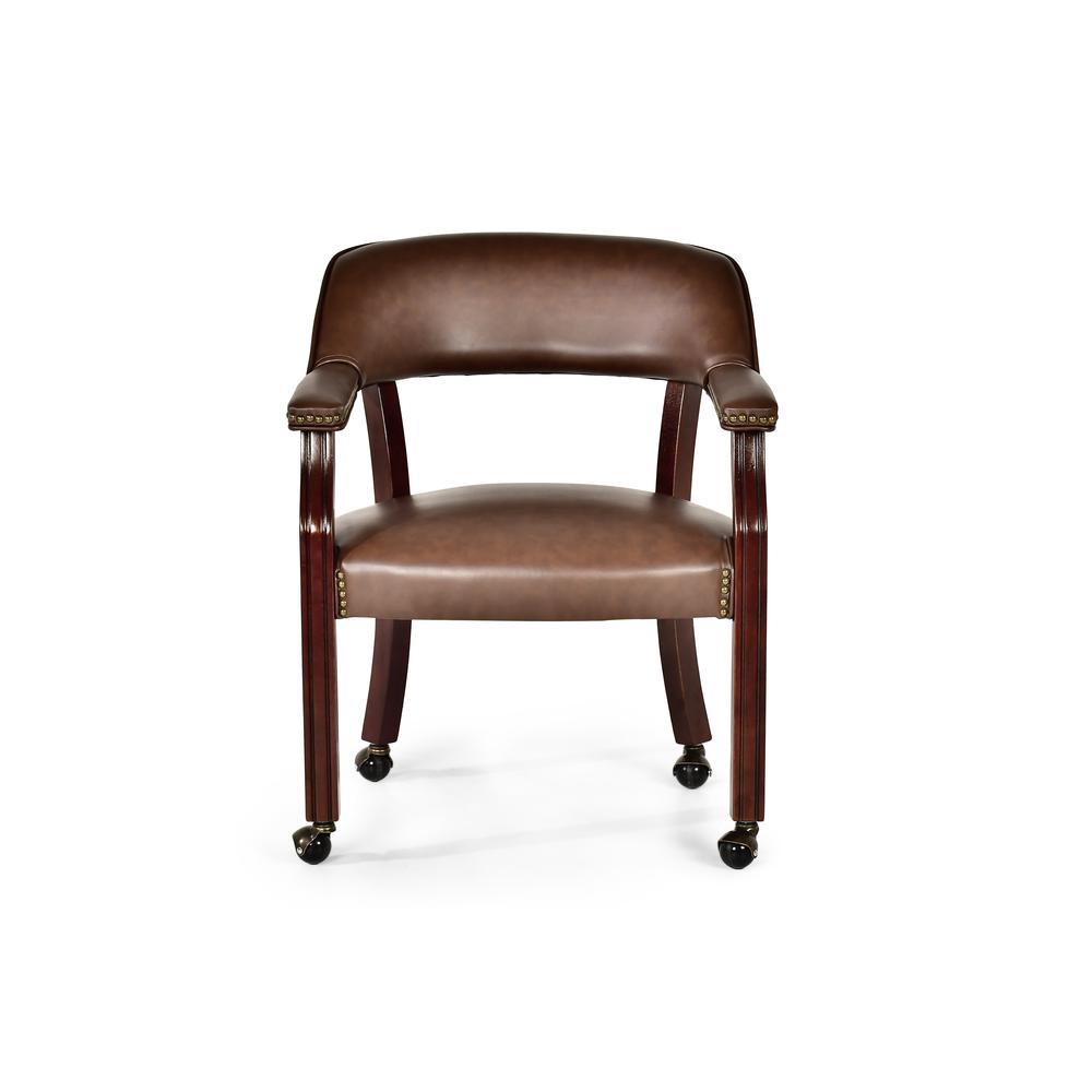Tournament Captains Chair w/Casters, Brown. Picture 2