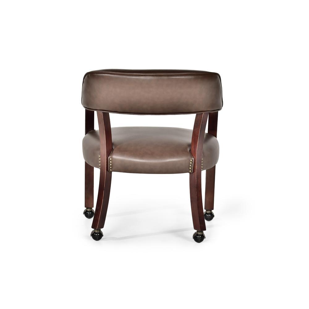 Tournament Captains Chair w/Casters, Brown. Picture 3