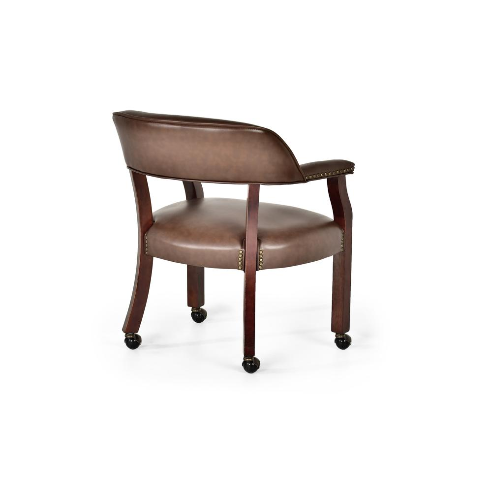 Tournament Captains Chair w/Casters, Brown. Picture 4