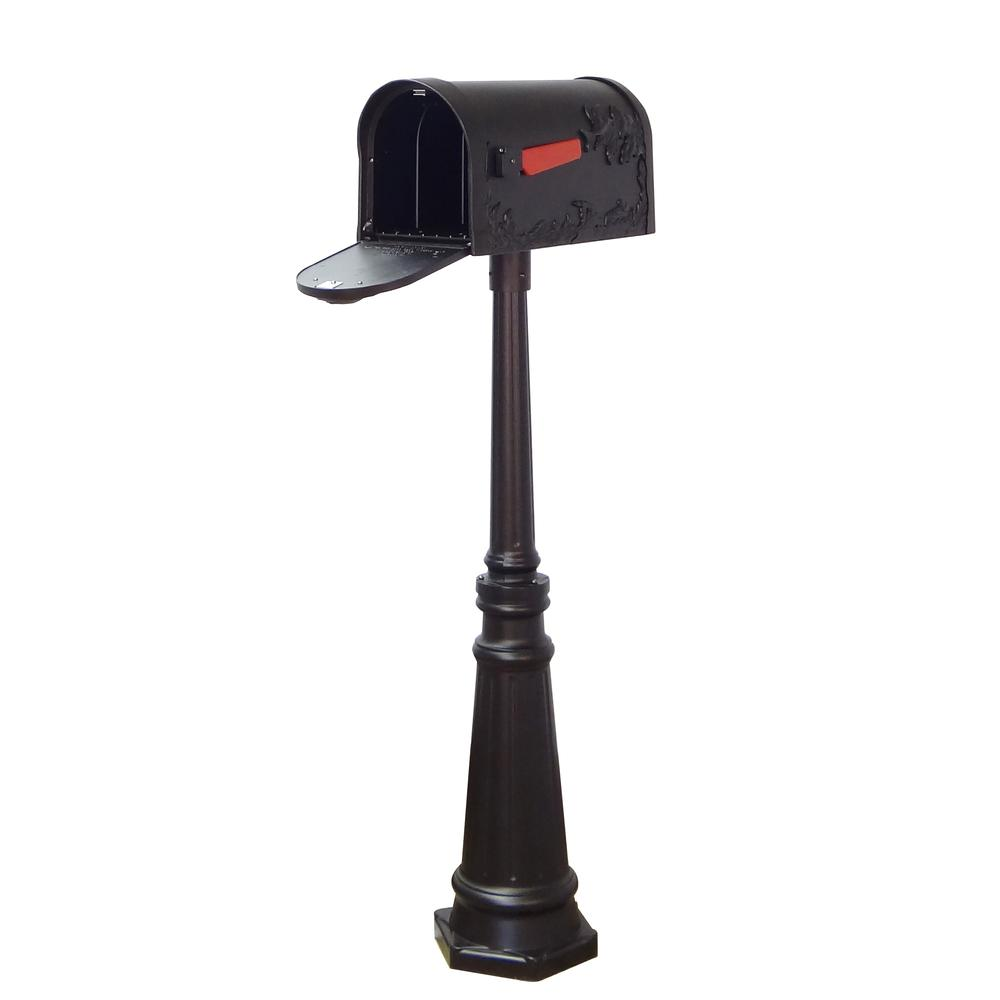 Tacoma Surface Mount Mailbox Post with Base Decorative Aluminum Top Mounting. Picture 4