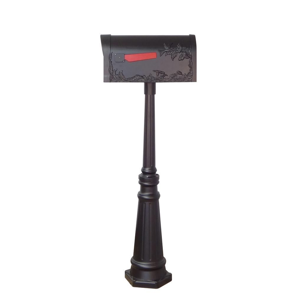 Tacoma Surface Mount Mailbox Post with Base Decorative Aluminum Top Mounting. Picture 5