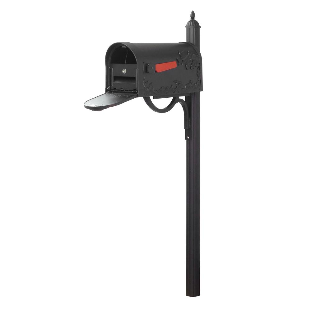 Hummingbird Curbside Mailbox with Locking Insert and Richland Mailbox Post. Picture 1