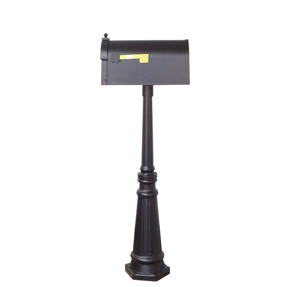 Tacoma Surface Mount Mailbox Post with Base Decorative Aluminum Top Mounting. Picture 9