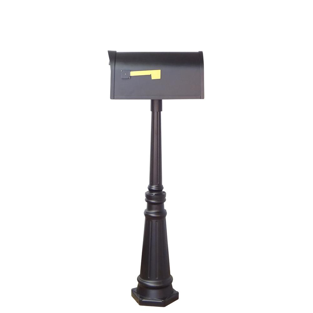 Tacoma Surface Mount Mailbox Post with Base Decorative Aluminum Top Mounting. Picture 14