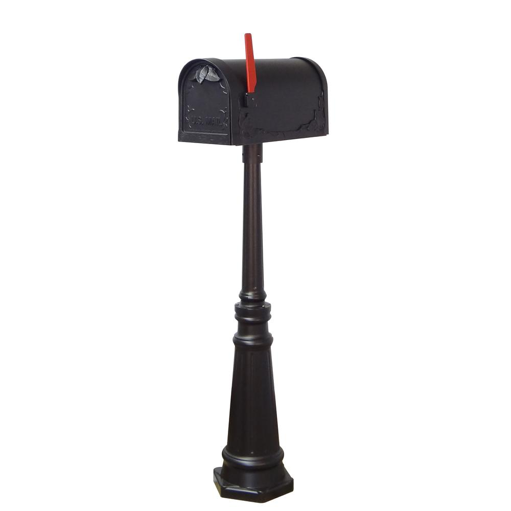 Tacoma Surface Mount Mailbox Post with Base Decorative Aluminum Top Mounting. Picture 18