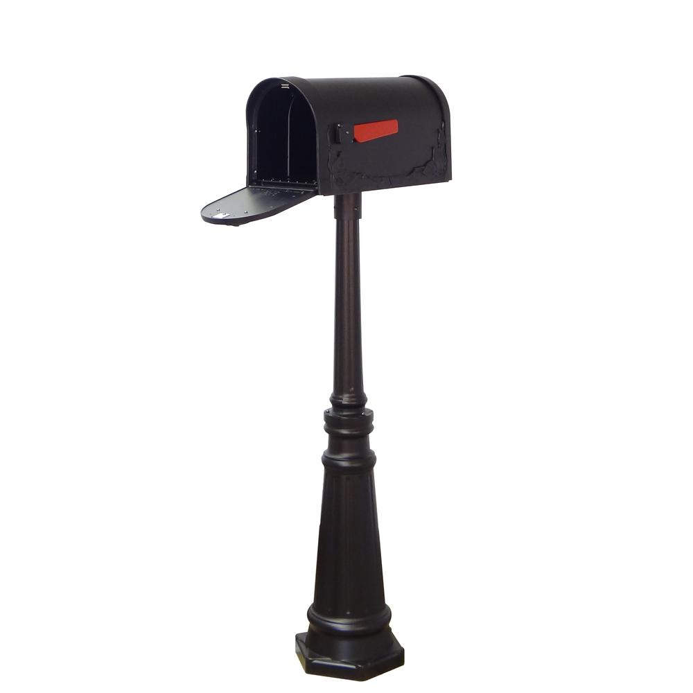 Tacoma Surface Mount Mailbox Post with Base Decorative Aluminum Top Mounting. Picture 19