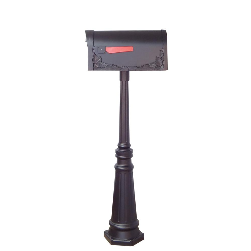 Tacoma Surface Mount Mailbox Post with Base Decorative Aluminum Top Mounting. Picture 20