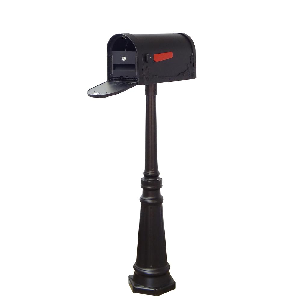Tacoma Surface Mount Mailbox Post with Base Decorative Aluminum Top Mounting. Picture 16