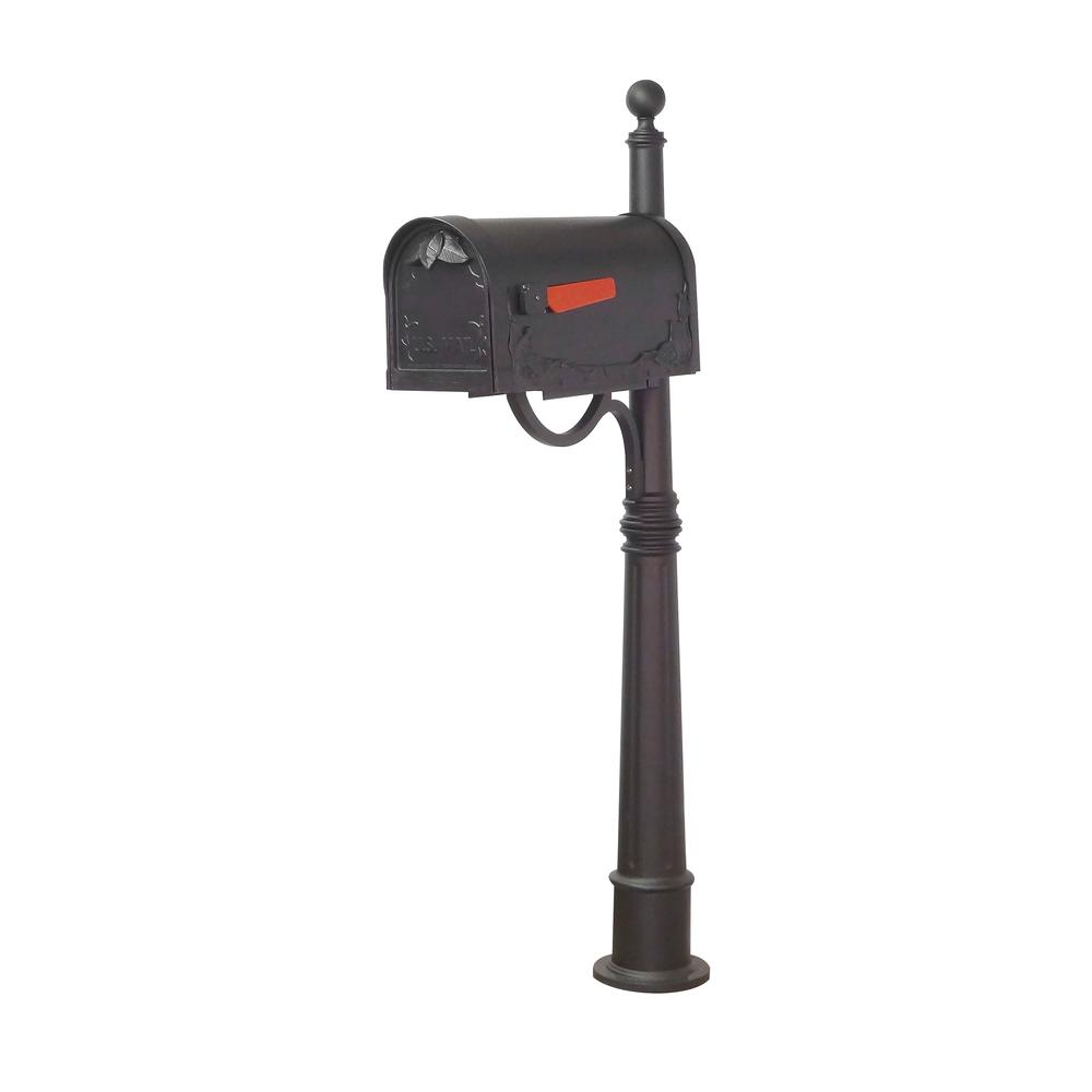Ashland Decorative Aluminum Durable Mailbox Post with Ball Topper, Base and Mounting Bracket. Picture 16