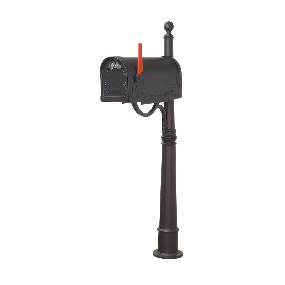 Ashland Decorative Aluminum Durable Mailbox Post with Ball Topper, Base and Mounting Bracket. Picture 17